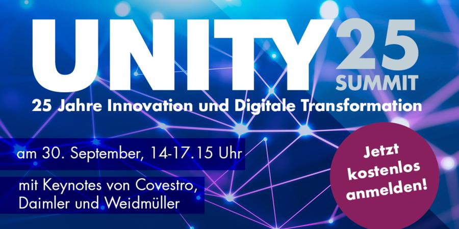 UNITY25Summit – Das Beste aus 25 Jahren Innovation und Digitaler Transformation